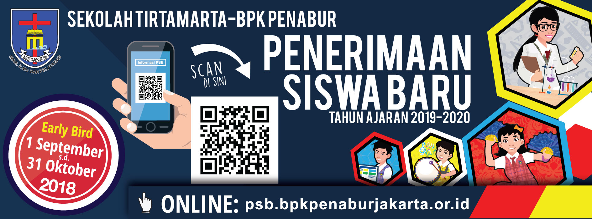 PENERIMAAN SISWA BARU 2019 2020 SEKOLAH TIRTAMARTA BPK PENABUR PONDOK INDAH DEPOK CINERE ONLINE EARLY BIRD