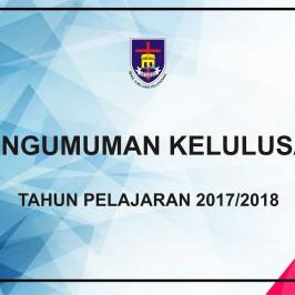 Pengumuman Kelulusan Tahun Pelajaran 2017/2018