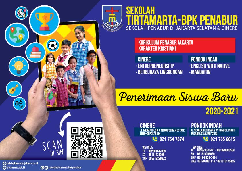 Penerimaan Siswa Baru 2020 Sekolah Swasta Kristen Pondok Indah Jakarta Selatan Depok Cinere Tirtamarta BPK Penabur