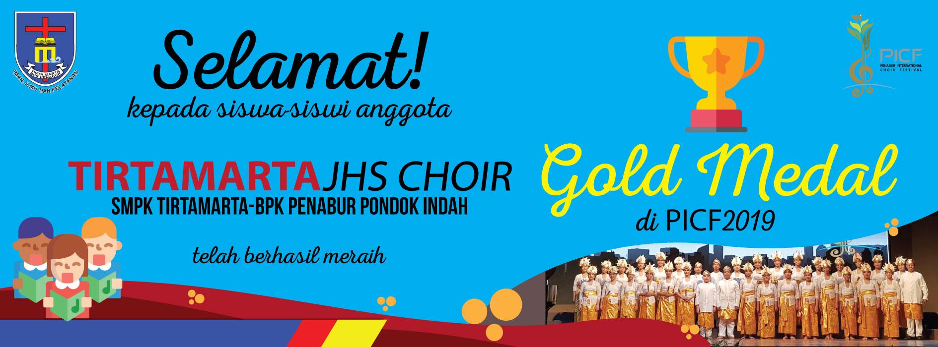 gold Medal Tirtamarta JHS Choir SMPK BPK Penabur Pondok Indah PCIF 2019